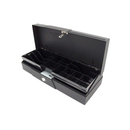 Cajón Posiflex CR-2200 en color negro en TPV