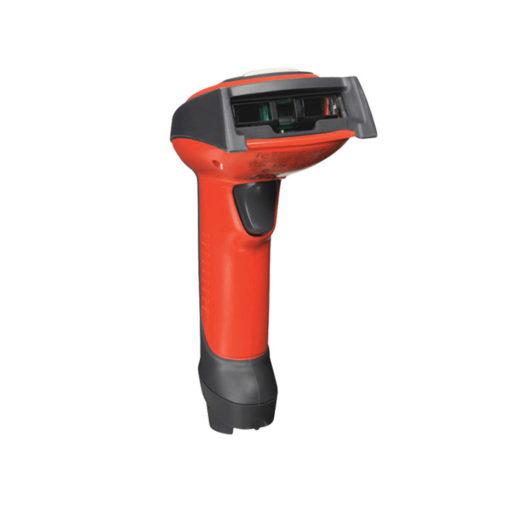 Escáner Honeywell 3800i en gris y naranja
