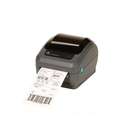 Impresora térmica Zebra GK420D sacando ticket