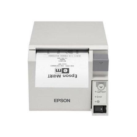 Impresora Térmica Epson TM-T70II sacando un ticket