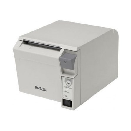 Impresora de tickets térmica Epson TM-T70II parte frontal en mundotpv
