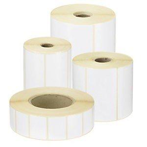 Rollo etiquetas térmicas 76 x 25 mm. Aprox. 1250 etiquetas/rollo. Caja 18 Unid.