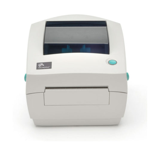 Impresora térmica de etiquetas Zebra GC420D en blanca en Mundotpv