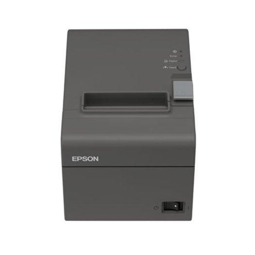Impresora térmica epson tm-t20II de frente en Mundotpv
