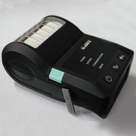 Impresora térmica portátil Godex de lado