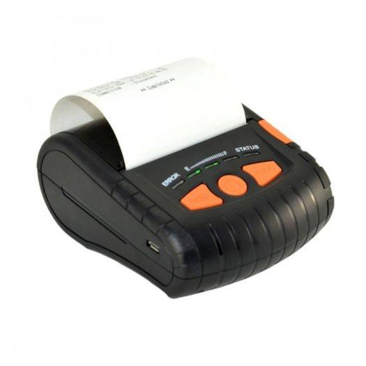 Impresora de ticket térmica portátil Mustek MK380 sacando un ticket