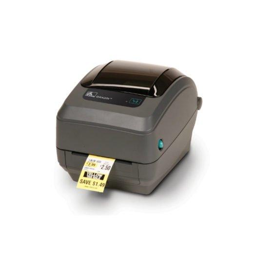Impresora térmica Zebra GK420t sacando un ticket