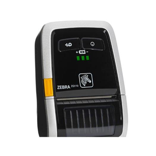 Impresora térmica portátil Zebra ZQ110 de cerca