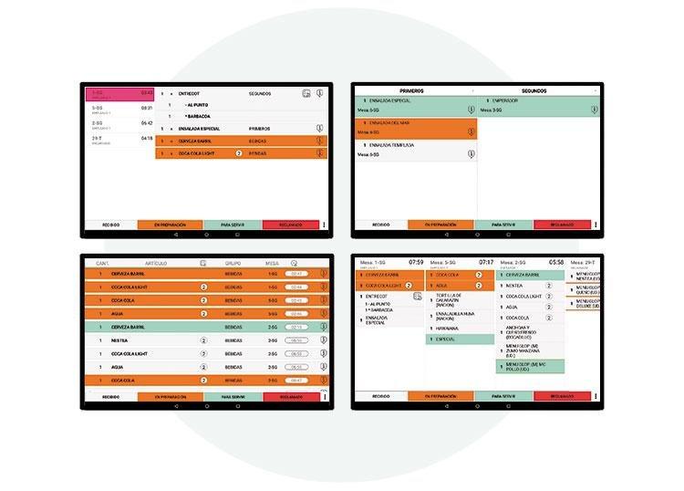 monitores de cocina y reparto